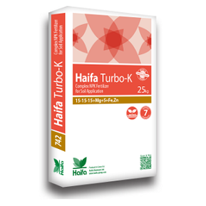 Haifa Turbo-K ™ 15-15-15 + 2MgO + 20SO3 + Fe + Zn