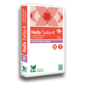 Haifa Turbo-K™ 12-10-16 + 3MgO + 15SO3 + Fe + Zn + B